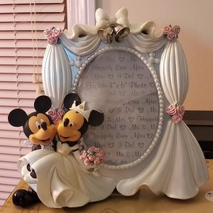 Wedding Mickey and Minnie photo frame